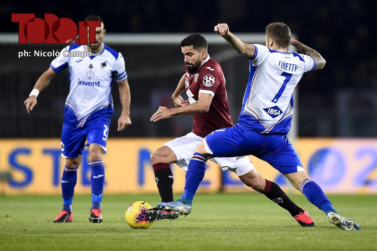 Tomas Rincon e Karol Linetty in Torino-Sampdoria
