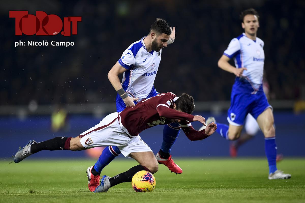 Nicola Murru e Simone Verdi in Torino-Sampdoria 1-3