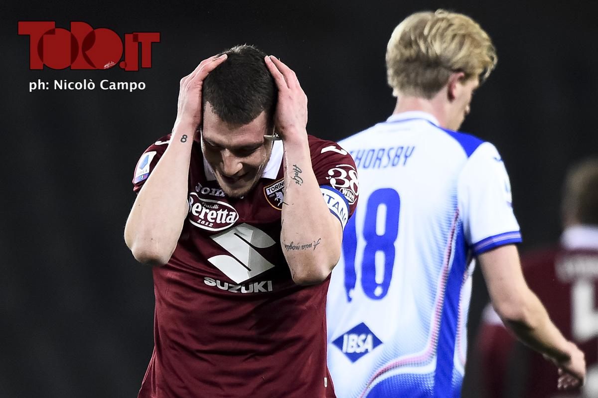 Andrea Belotti in Torino-Sampdoria 1-3