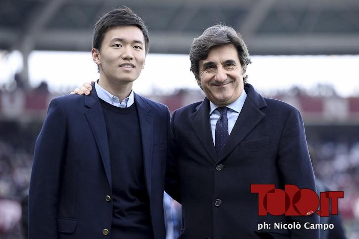 Steven Zhang e Urbano Cairo Torino-Inter