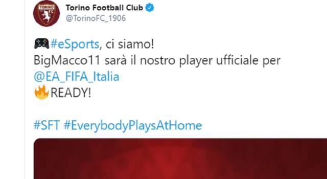 Torino, ecco la squadra per la Serie A virtuale