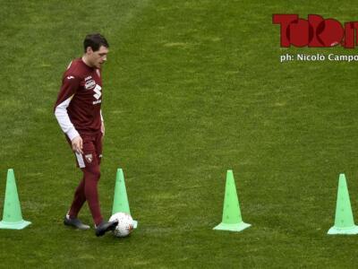 Torino, l'allenamento di oggi al Filaelfia
