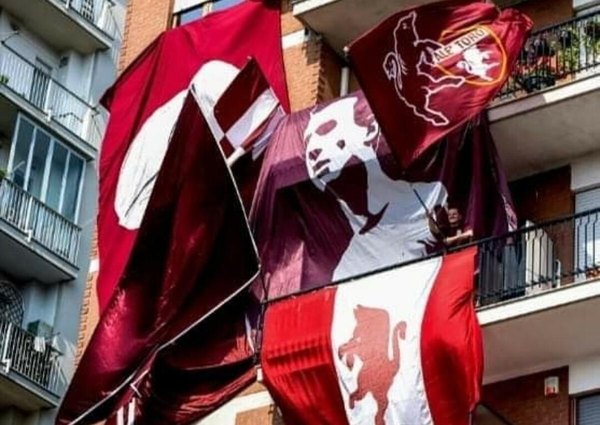 Bandiere Torino, zona stadio Filadelfia