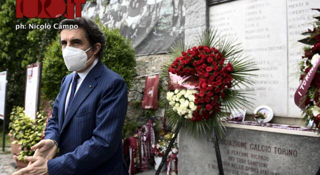 """Cairo a Superga: """"Il Grande Torino incarnava i valori della forza, della riscossa"""" / IL VIDEO"""