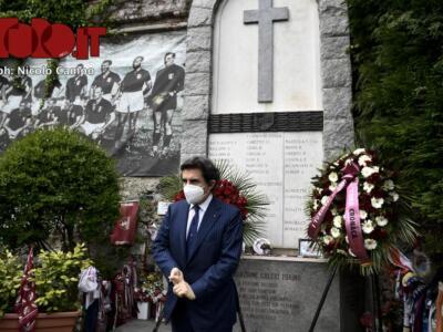 4 maggio 2020: il ricordo del Grande Torino a Superga / La fotogallery