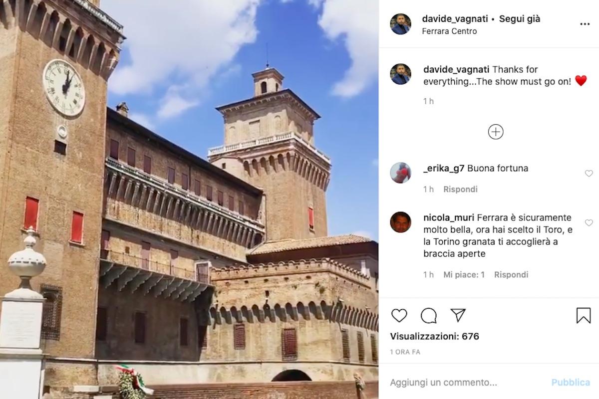 Vagnati, post Instagram