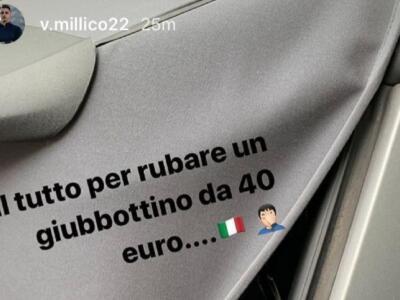 """Millico, furto in macchina: """"Tutto questo per un giubbottino da 40 euro"""""""