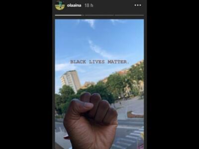 Caso Floyd, anche Aina si unisce alla protesta