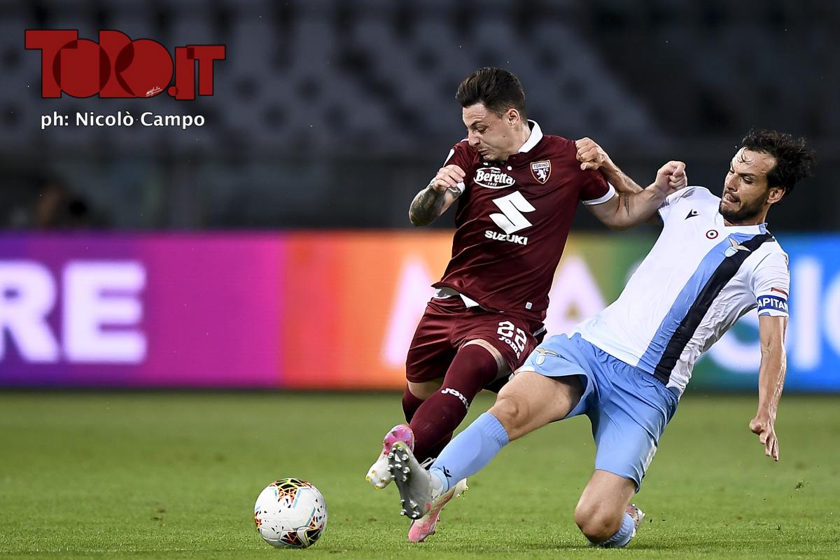Vincenzo Millico e Marco Parolo in Torino-Lazio 1-2