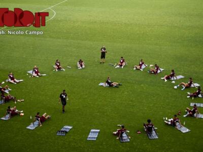 Torino, dal Filadelfia: verso il Milan con la squadra al completo