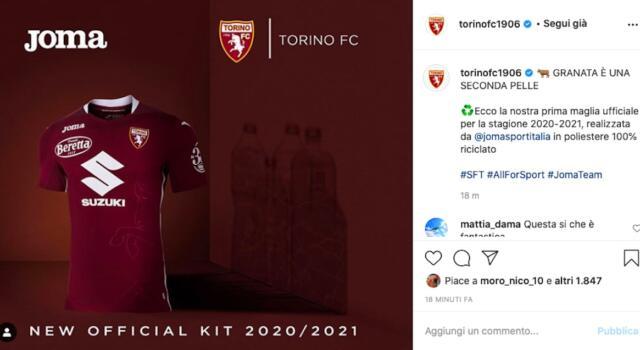 Torino, ecco le nuove maglie! La prima senza colletto, la seconda è tutta bianca
