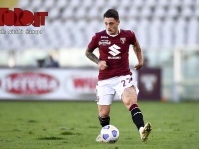 Torino, nella rifinitura si ferma Millico: out per la Samp