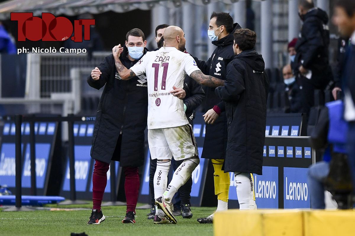 Simone Zaza esulta in Inter-Torino 2020/2021