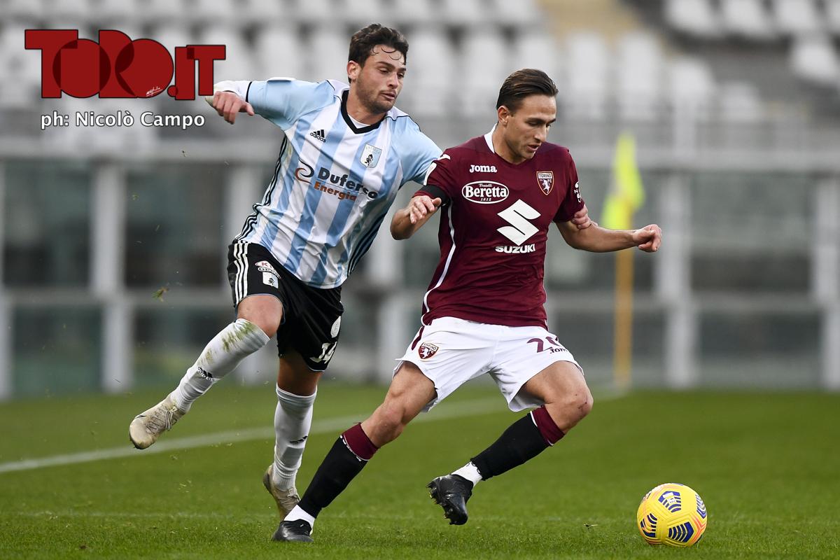 Simone Edera e Cassio Cardoselli in Torino-Virtus Entella 2-0, Coppa Italia 2020/2021
