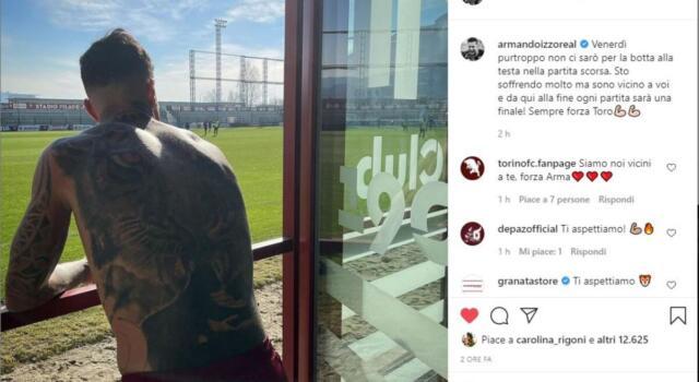 Izzo salta la Fiorentina: il messaggio ai compagni sui social
