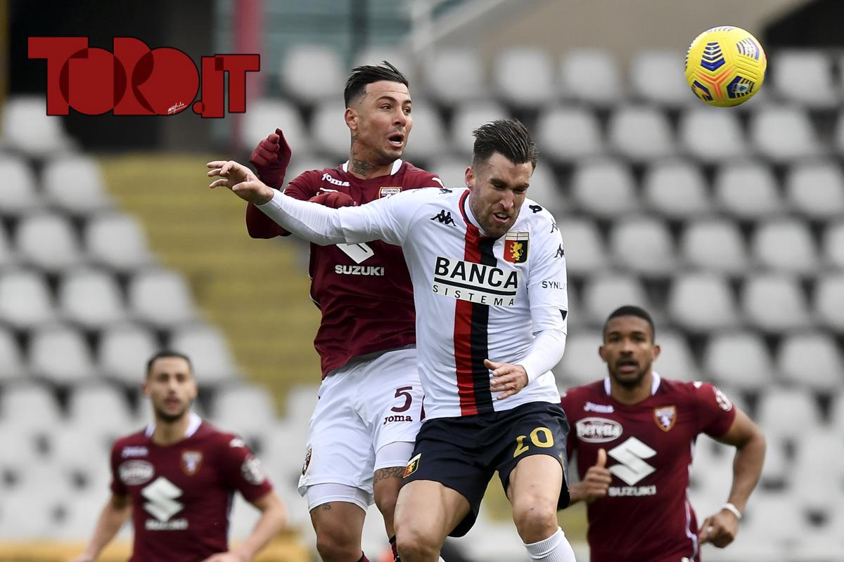 Kevin Strootman e Armando Izzo in Torino-Genoa 0-0 2020/2021