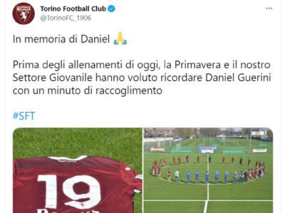 Torino, un minuto di silenzio per Daniel: il settore giovanile ricorda Guerini