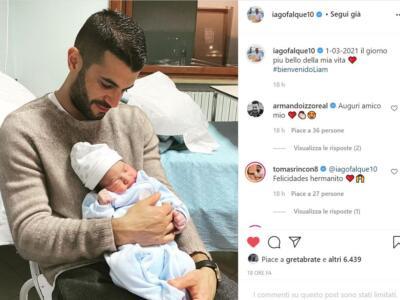 Falque diventa papà: benvenuto Liam