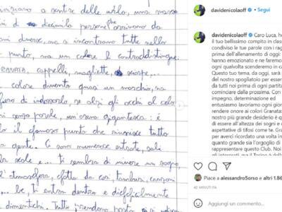"""Luca, 11 anni, e il suo tema per il Toro. Nicola: """"Lo leggeremo prima di ogni partita"""""""