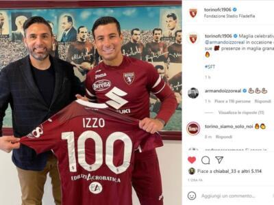"""Il Toro celebra le 100 presenze di Izzo: """"Fiero di aver sempre difeso questa maglia"""""""