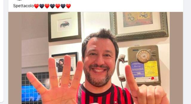 """Pure Salvini prende in giro il Toro: sui social mostra il """"7"""""""