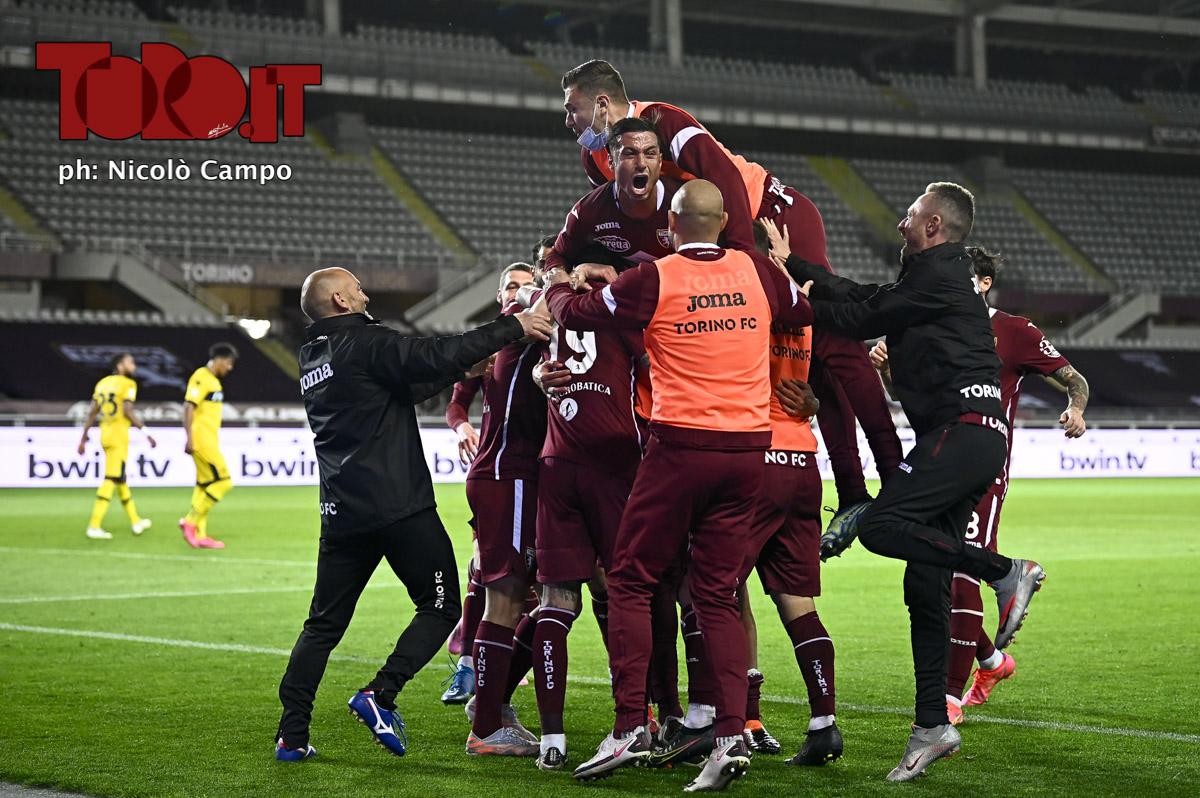 Torino, esultanza dopo il gol