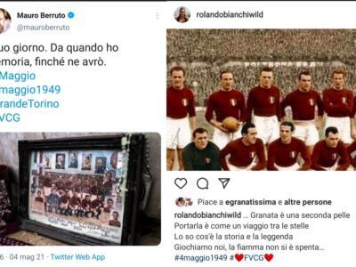 Da Vives alla Juventus, i messaggi sui social per il Grande Torino