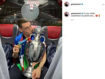 """Belotti e Sirigu campioni d'Europa, il post del Gallo: """"È tutto vero"""""""