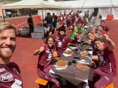 Torino, grigliata di squadra a Santa Cristina