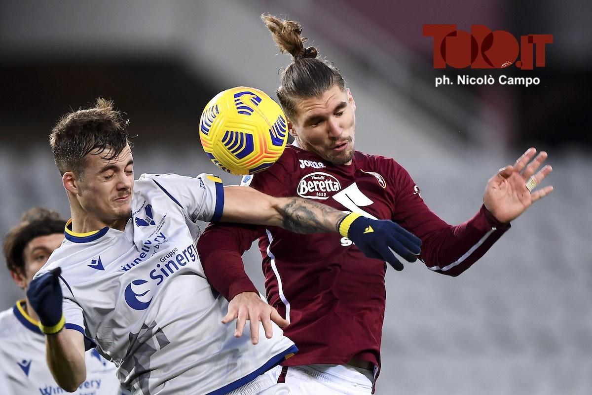 Ivan Ilic e Lyanco in Torino-Verona 1-1