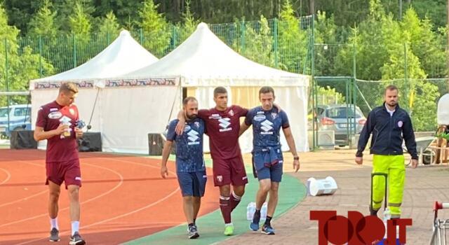 Torino, si ferma Rauti: infortunio nella prima amichevole