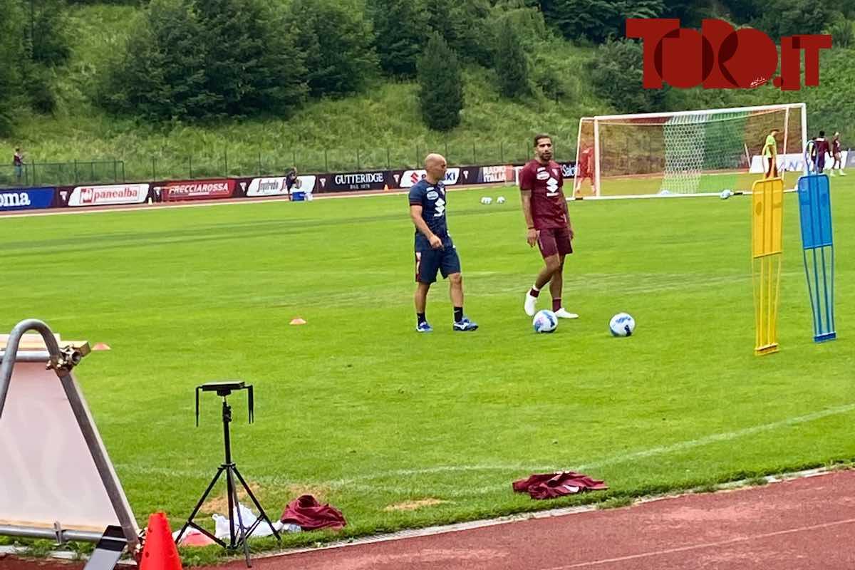 Rodriguez allenamento a Santa Cristina