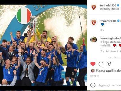 L'Italia vince Euro2020: il Torino celebra il traguardo azzurro