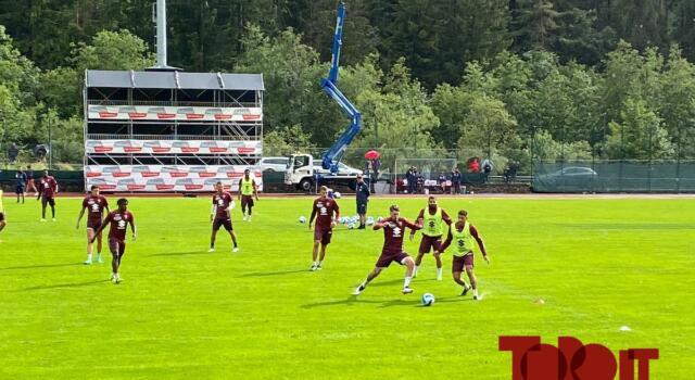 Santa Cristina, secondo giorno di allenamento: partitella 11 contro 11