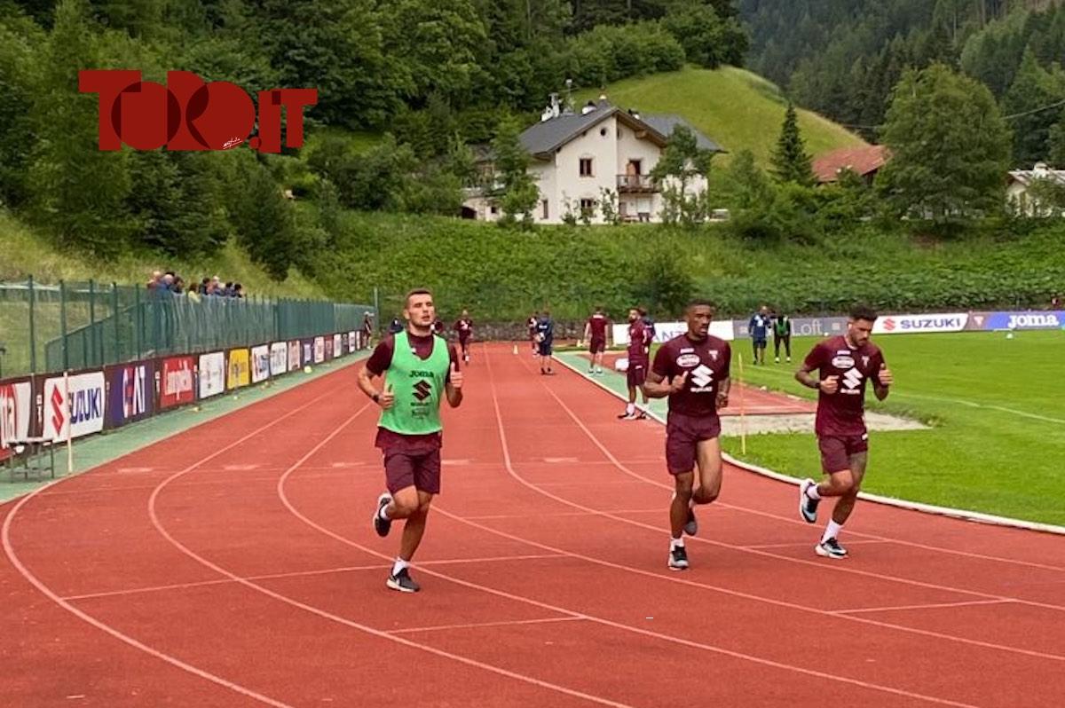 Torino, allenamento a Santa Cristina Valgardena