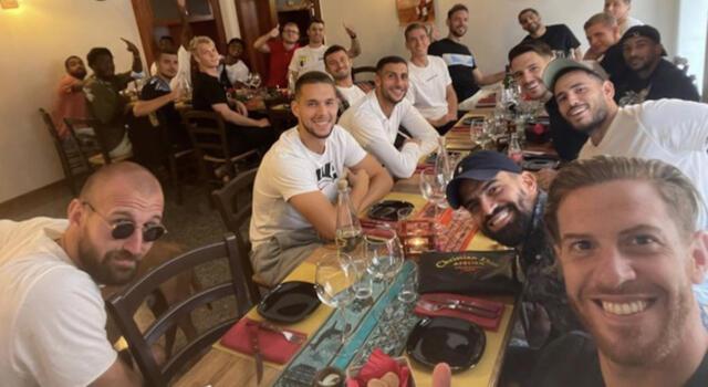 Ansaldi, compleanno con squadra e staff
