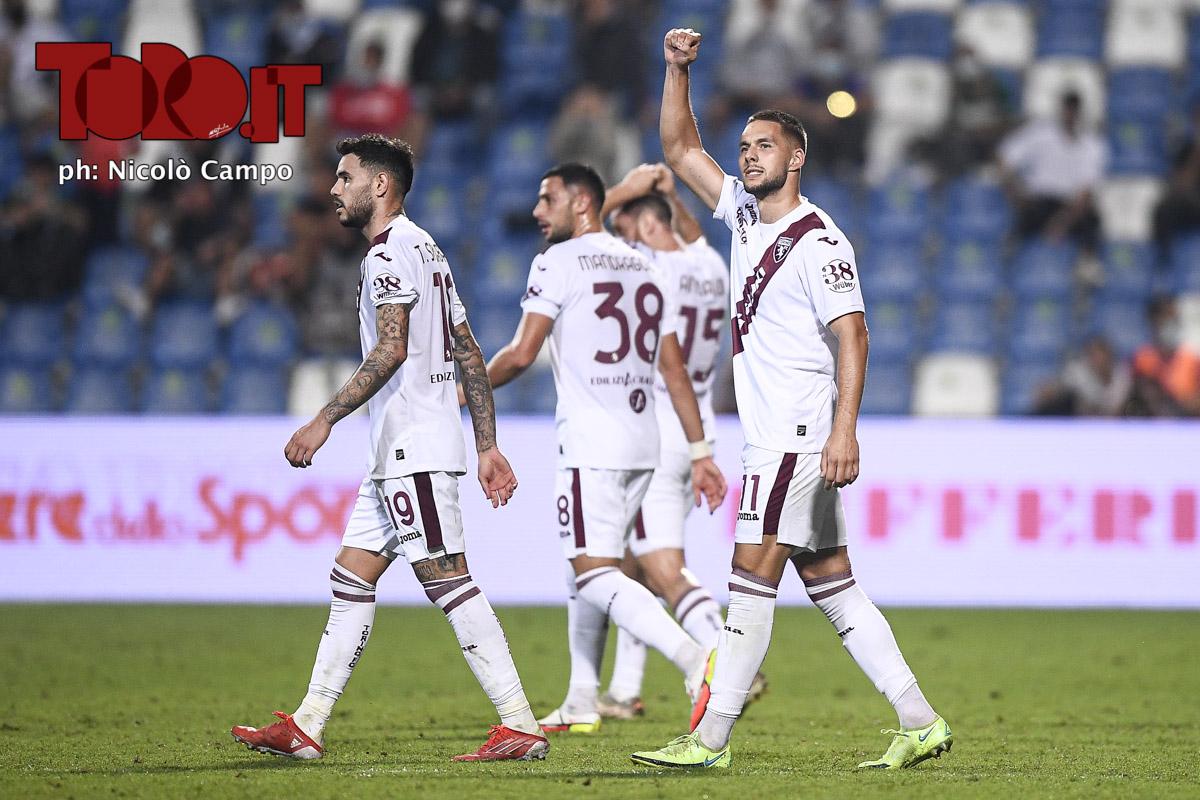 Marko Pjaca festeggia il gol