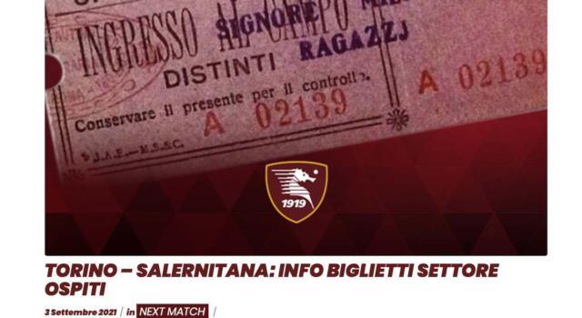 """Salernitana, settore ospiti esaurito, il club: """"Comprateli in Curva Primavera"""""""