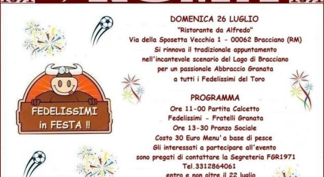 Grande festa con i Fedelissimi Granata di Roma
