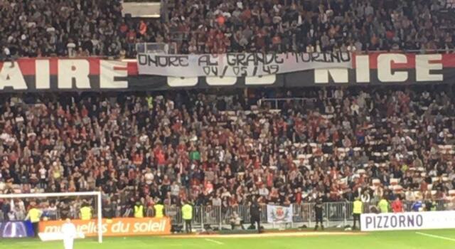 I tifosi del Nizza omaggiano il Grande Torino