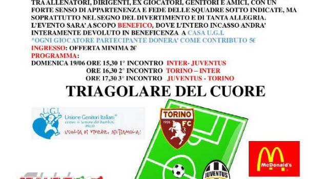 Primo triangolare del Cuore a Carignano: Toro-Juve-Inter protagoniste