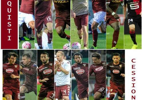Il tabellone del calciomercato del Torino