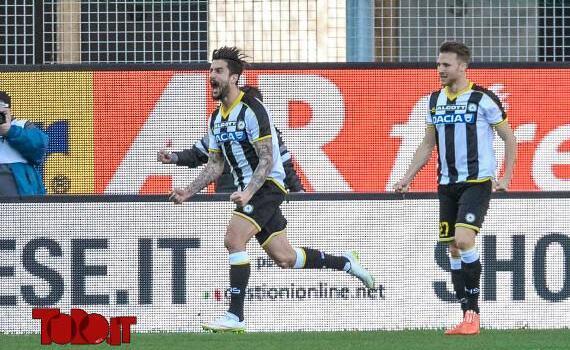 Udinese, i convocati: out Kone e Thereau