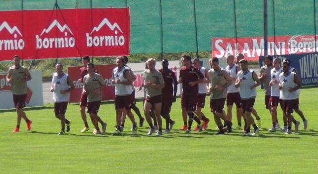 Bormio, l'allenamento pomeridiano del Torino